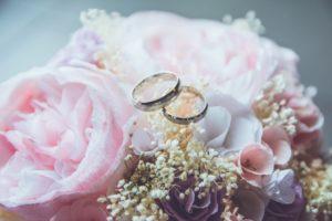 Ringkissen aus einem Brautstrauss