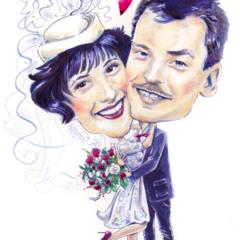 Hochzeitszeichnung Brautpaar