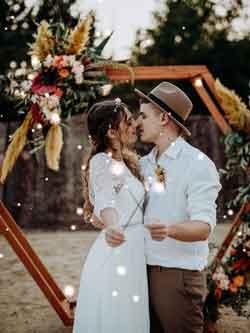 Traubogen-Hochzeit Boho Style