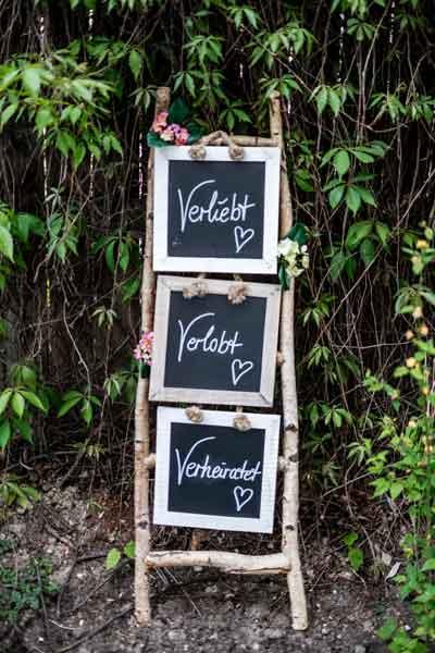 Dekoleiter für Hochzeit